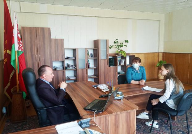 Встреча с заместителем председателя Молодежного парламента при Кореличском районном Совете депутатов Маргаритой Звонко
